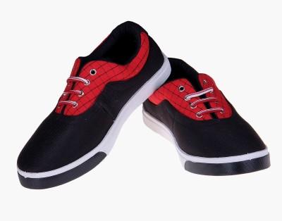 Fluid Black Canvas Shoes