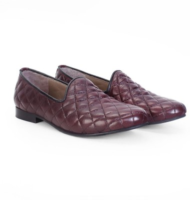Bareskin Burgundy Leather Casual Shoes