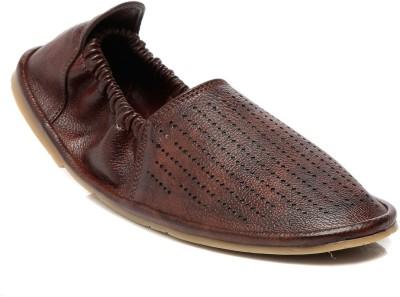 TEN Brown Leather Mojari Outdoors