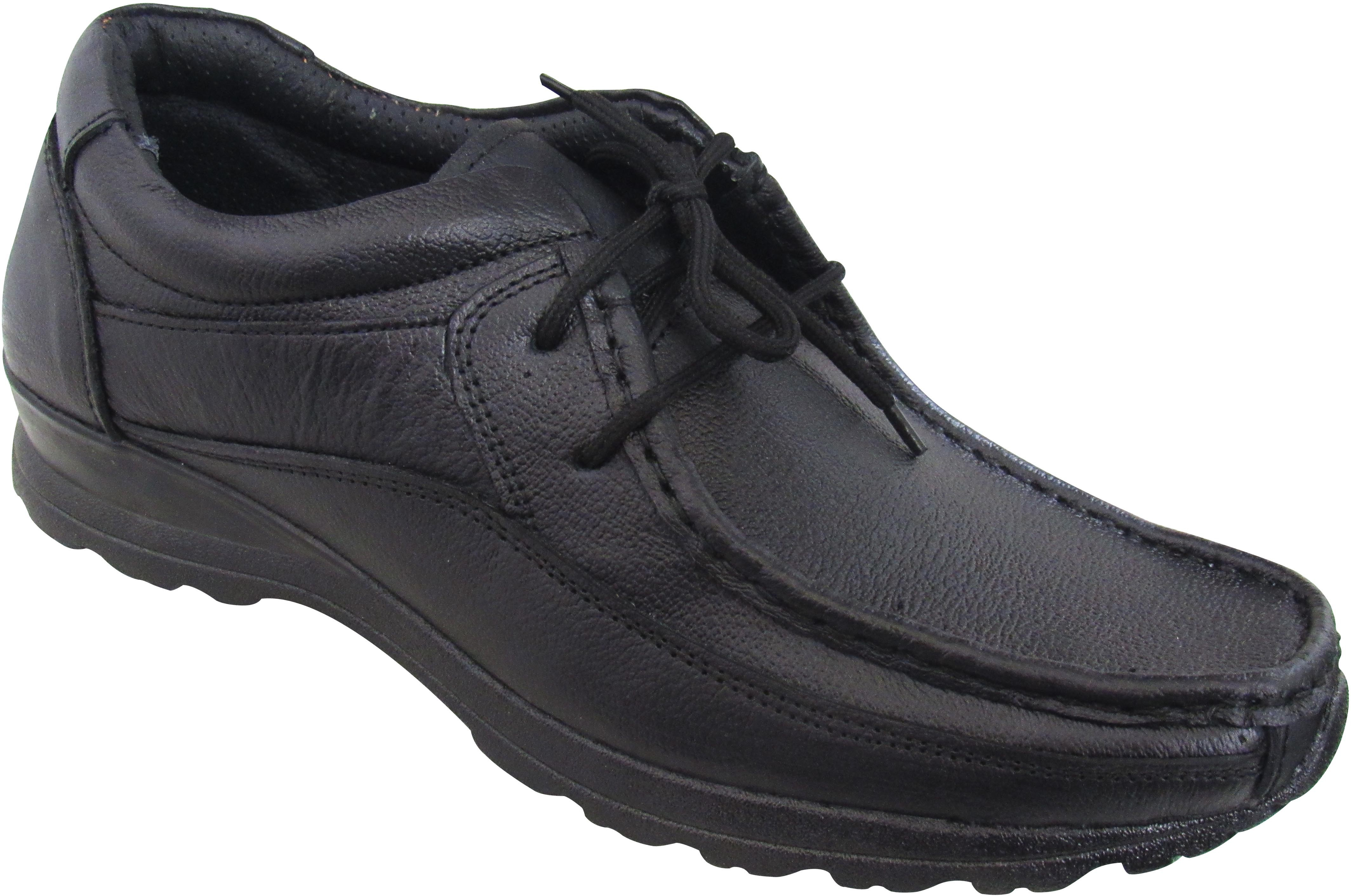 Zikrak Exim Stylish Genuine Leather Outdoor Shoes(Black)