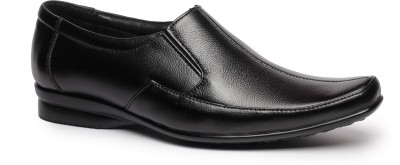 Feather Leather Genuine Leather Black Formal Shoes 037 Slip On Shoes