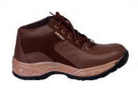 JK Port Brown Faux Leather Safety Shoe best price on Flipkart @ Rs. 857
