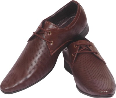 Limerence Albinus Brown Pure Leather Lace up Shoes