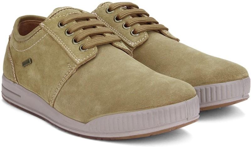 Woodland Leather SneakersBeige...