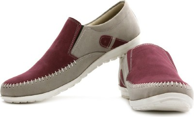 True Soles Loafers(Grey, Maroon)