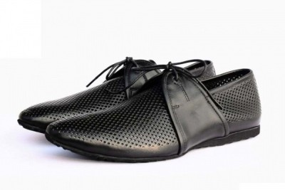 Zetoes Perforated Leather Laceups Casual Shoes