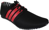 Qpark Walking Shoes (Black, Red)