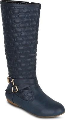 Get Glamr Gaili Zipper Boots(Blue)