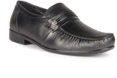 Leather King Thomas Black Slip On