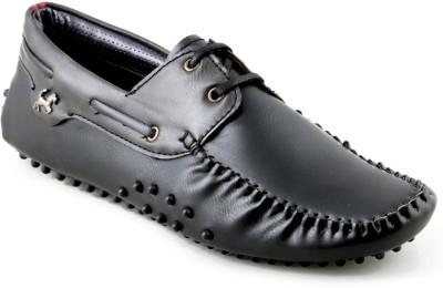 Chris Brown Evanth Black-Grey Boat Shoes