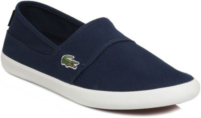 Lacoste Mens Dark Blue Marice Canvas Shoes Casual Shoes