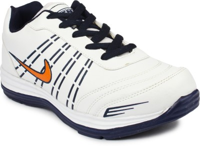 Tennis Synthetic Leather White Royal Blue Sport Shoes Running Shoes