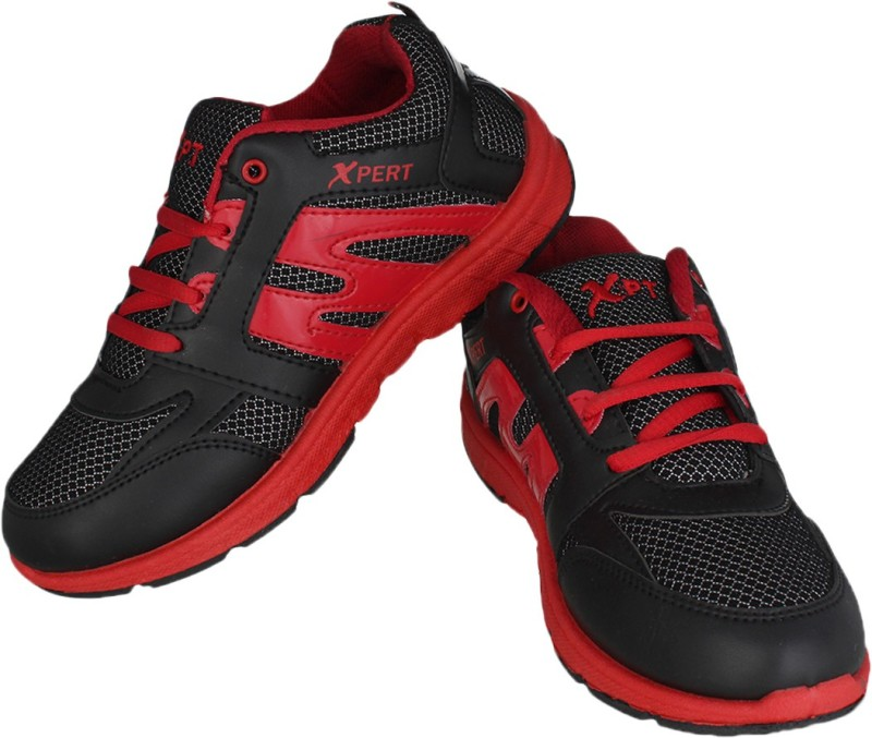 Xpert Running Shoes(Black, Red)...