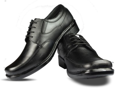 Blue Harpers Classic Black Lace Up Shoes