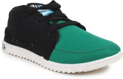11e Hgs2-Black-P.Green Canvas Shoes