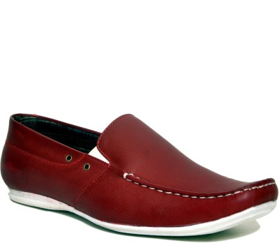 Stylox Dark Red Loafers