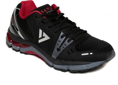 SEVEN Poseidon Black High Risk Red Running Shoes