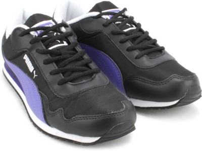Puma Street Rider Wns DP Running Shoes(Black, Purple)