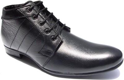 JK Port Cp812 Formal Leather Lace Up Shoes(Black) at flipkart