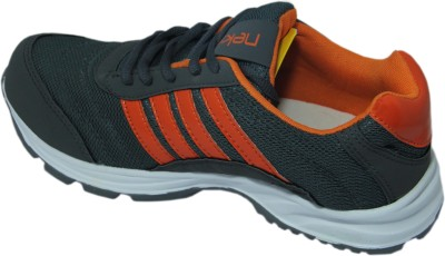 Stepin Soles Striker 4 Grey/Orange Running Shoes