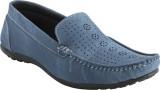 Advin England Blue Denim Loafers (Blue)