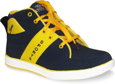 Sapatos Stylish Blue N Yellow Canvas shoes Sneakers