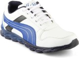 Isole Running Shoes (White, Blue)