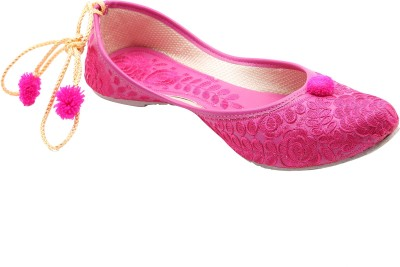 Belleza Pink Hand made Laces Ethnic Jutis