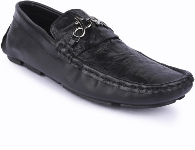 Buckleup MENS LEATHER SHOES BUPD-101_BLACK-Size-7 Loafers(Black)