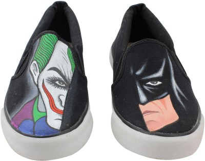 LazyBrats Batman - Joker Hand Painted Customised Casual Slipon Shoes