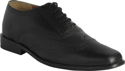Claude Lorrain Black Party Wear Brogue Lace Up Shoes