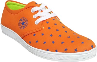 Hitmax STAR Orange Canvas Shoes