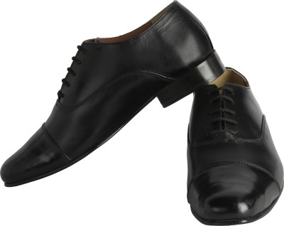 Claude Lorrain Black Oxford Lace Up Shoes
