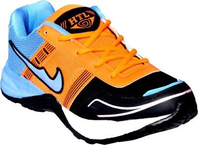 Hitcolus Black & Orange & Sky Blue Running Shoes, Walking Shoes