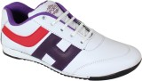 Qpark Running Shoes (White, Purple)