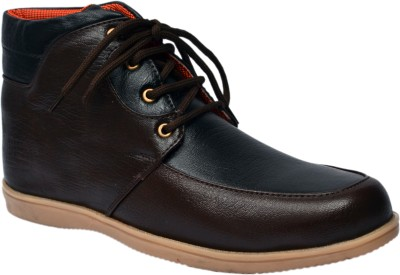 Molessi Stylish Brown & Blue Ankle Boots