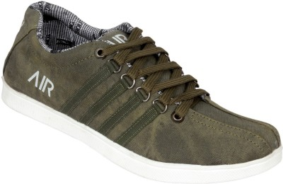 Ztoez Green Canvas Shoes