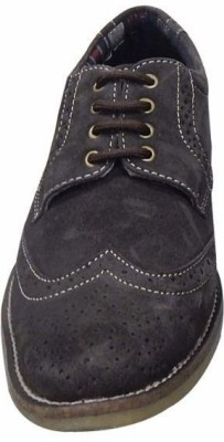 M-Toes M Toes Men Brown Brogue Leather Shoes Corporate Casuals