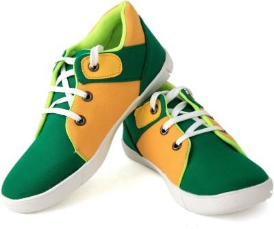 Felando 414-Green-2 Canvas Shoes