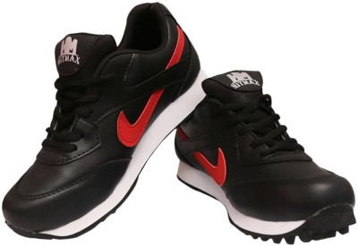 Hitmax BLK&RED Cricket Shoes