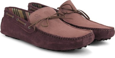 United Colors of Benetton Men Loafers(Burgundy)