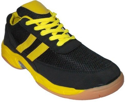 Port Black Howk Badminton Shoes(Black)