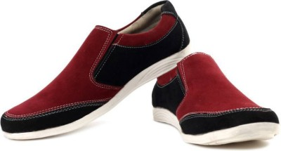 True Soles Loafers(Black, Red)