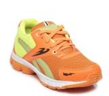 Ten Orange::Green Mesh Sports Shoes Runn...