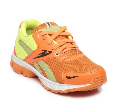 TEN Orange::Green Mesh Sports Shoes Running Shoes