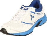 Spinn ZEAL Running Shoes (White, Blue)