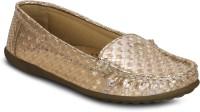 Kielz Gold-Women-Slip-On Loafers(Gold)