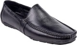 Leather Wood Loafers (Black)