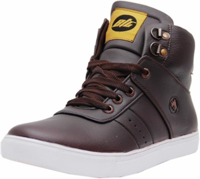 Black Tiger Men's Synthetic Leather Casual Shoes 072-Brown-10 Casuals