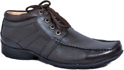 Zoom Zoom Branded Men's Pure Leather Formal Shoes D-2572-Brown-10 Lace Up